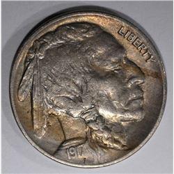1917 BUFFALO NICKEL, AU