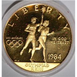 1984-W $10.00 PROOF OLYMPIC TORCH BEARER