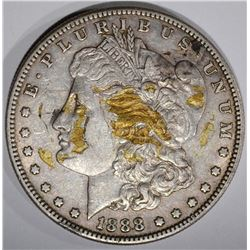 1888-S MORGAN DOLLAR, XF/AU