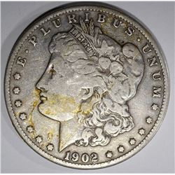 1902-S MORGAN DOLLAR, VF