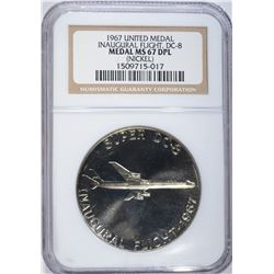 1967 UNITED MEDAL, NGC MS-67 DPL