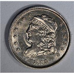 1835 BUST HALF DIME AU/BU