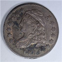 1814 SMALL DATE BUST DIME VF/XF
