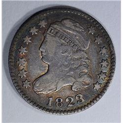 1823/2 BUST DIME F/VF
