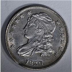 1830 BUST DIME AU/BU RIM BUMP