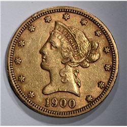 1900 $10.00 GOLD LIBERTY  XF-AU