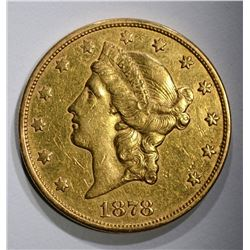 1878-S $20.00 GOLD LIBERTY  XF