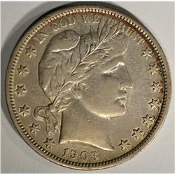 1903-S BARBER HALF DOLLAR  AU
