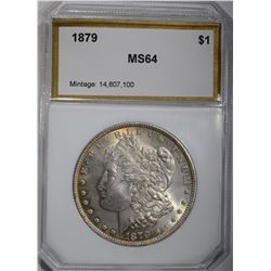 1879 MORGAN DOLLAR, PCI CH/GEM BU