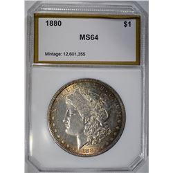 1880 MORGAN DOLLAR, PCI CH/GEM BU