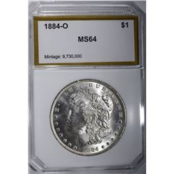 1884-O MORGAN DOLLAR, PCI CH/GEM BU