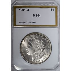 1901-O MORGAN DOLLAR, PCI CH/GEM BU