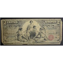 1896 $2.00 U.S. SILVER CERTIFICATE