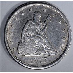 1875-CC 20 CENT AU CLEANED