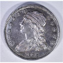 1834 BUST QUARTER CH AU