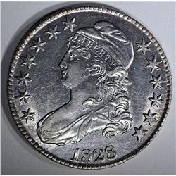 1828 BUST HALF AU/BU