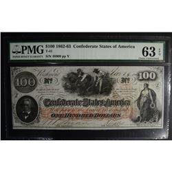 1862-63 $100.00 CONFEDERATE STATES OF AMERICA