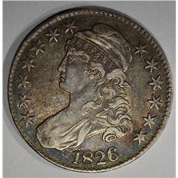 1826 CAPPED BUST HALF DOLLAR O-102 CH.AU