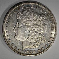 1890-CC MORGAN DOLLAR CH.AU