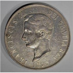 1859 SILVER 120GRANA NAPLES CITY STATE