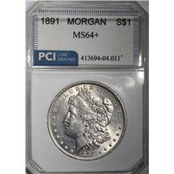 1891 MORGAN DOLLAR PCI CH BU+