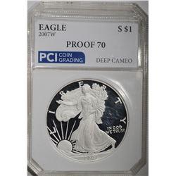 2007 W AMERICAN SILVER EAGLE $1