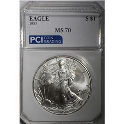 1997 AMERICAN SILVER EAGLE $1