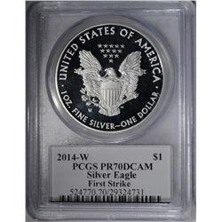 2014-W AMERICAN SILVER EAGLE DOLLAR