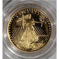 1991 1/10th Oz GOLD PROOF AMERICAN EAGLE BOX/COA