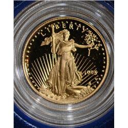 1995 1/10th Oz GOLD PROOF AMERICAN EAGLE BOX/COA