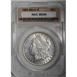 1880-MICRO O MORGAN DOLLAR, NAC SUPERB GEM BU