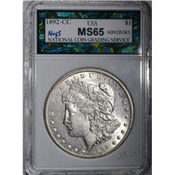 1892-CC MORGAN DOLLAR, NCGS GEM BU