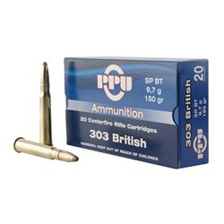 PPU 303 BRITISH SP 150GR  - 100 Rounds