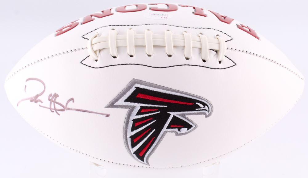 check out 2e483 9ffab Deion Sanders Signed Falcons Logo Football (JSA COA)