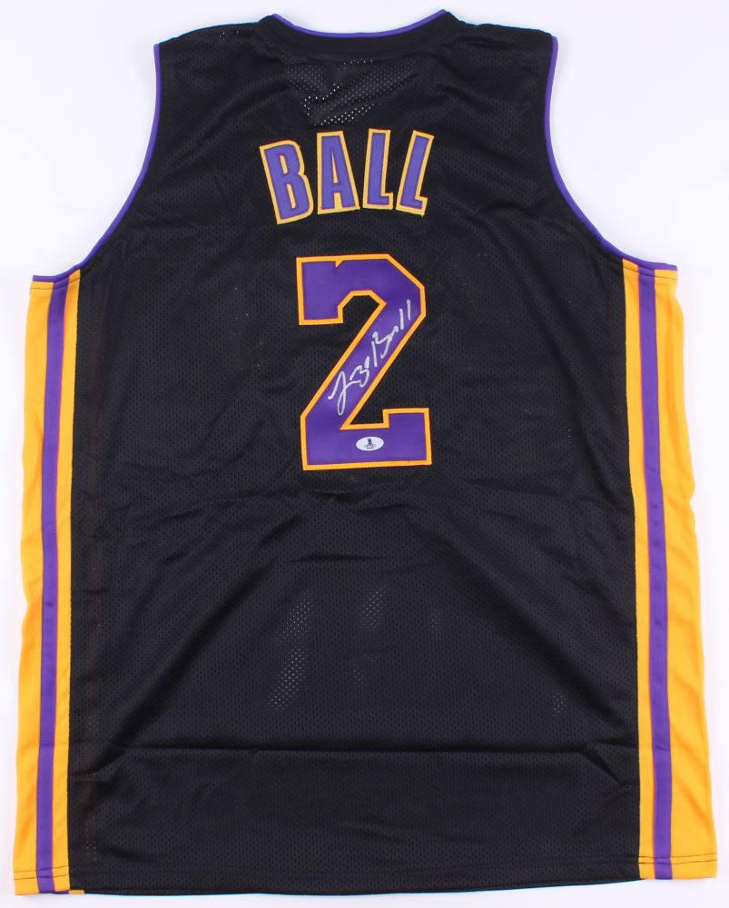 8936bacd5cc Image 1   Lonzo Ball Signed Lakers Jersey (Beckett COA)
