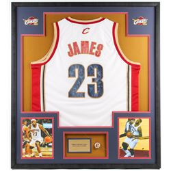brand new a1596 6589b LeBron James Cavaliers 33.5x37.5 Custom Framed Jersey ...