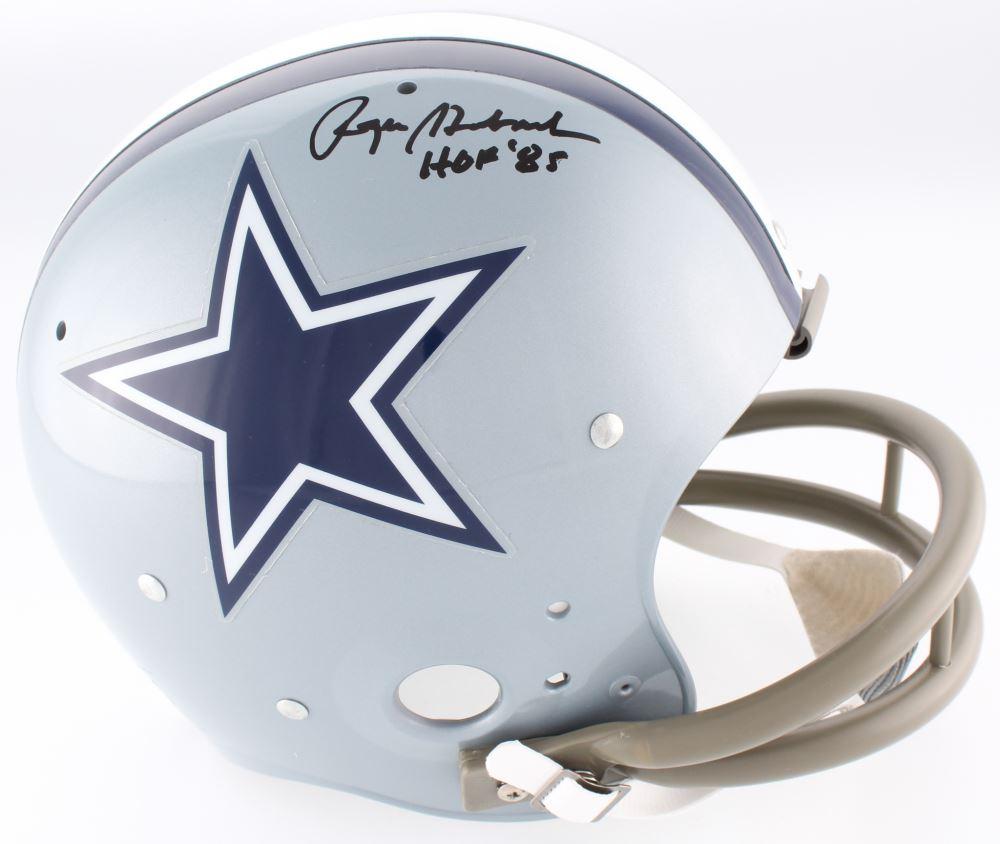 916c99ce320 Image 1   Roger Staubach Signed Cowboys TK Suspension Full-Size Helmet  Inscribed