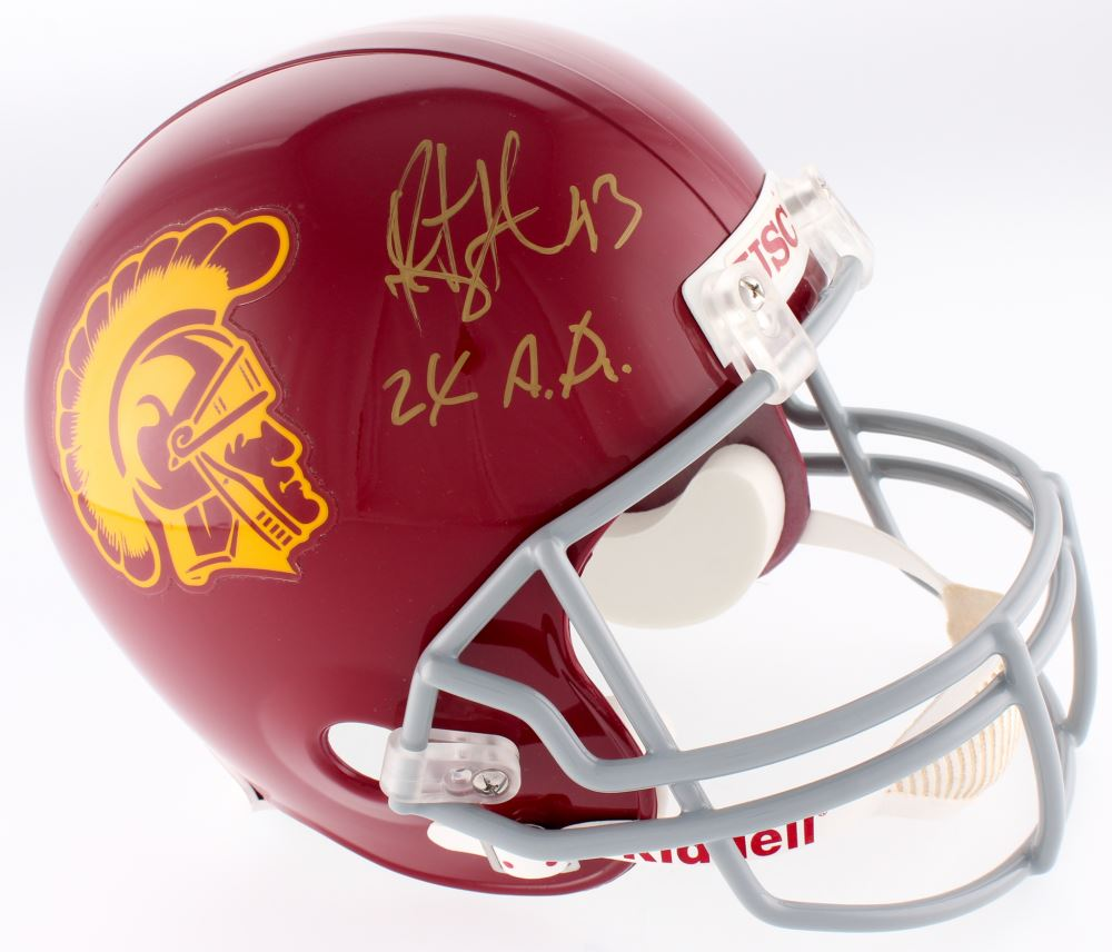 7b05efb91 Image 1   Troy Polamalu Signed USC Trojans Full-Size Helmet Inscribed