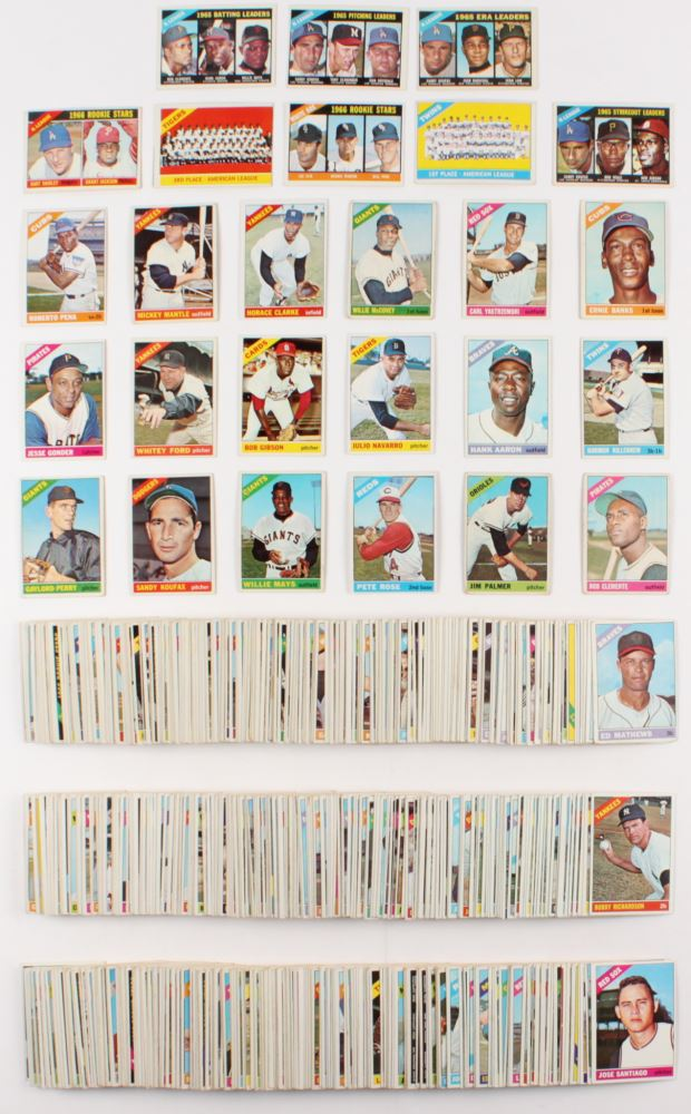 Complete Set Of 598 1966 Topps Baseball Cards With 50