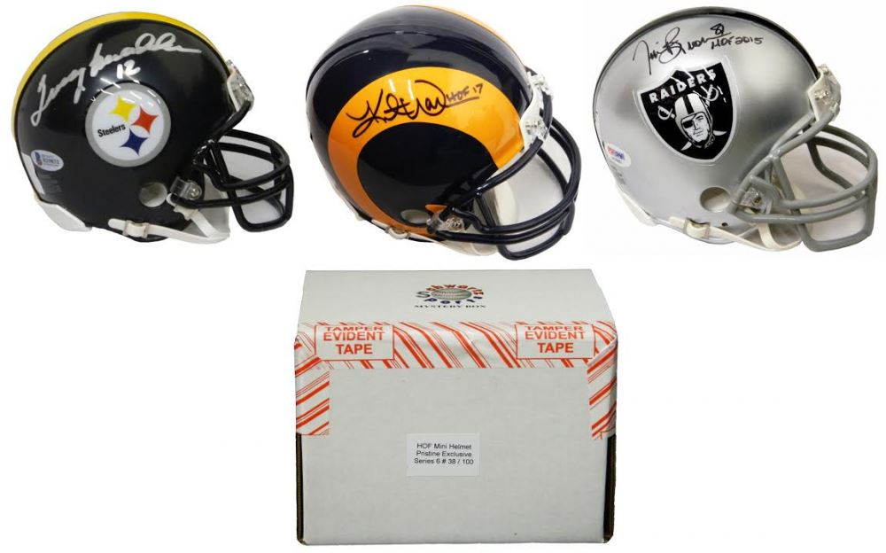 6f73e22b Schwartz Sports Football Hall of Famer Signed Mini Helmet Mystery Box