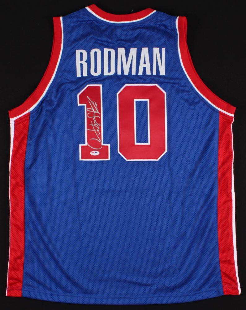 timeless design 05cb9 eaec5 Dennis Rodman Signed Pistons Jersey (PSA COA)