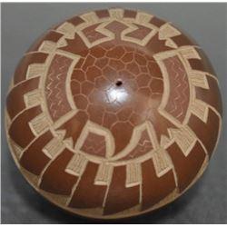 SANTA CLARA POTTERY SEED JAR (NARANJO)