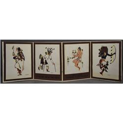 FOUR PUEBLO PRINTS