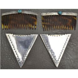 NAVAJO HAIR BARRETTES AND COLLAR TABS