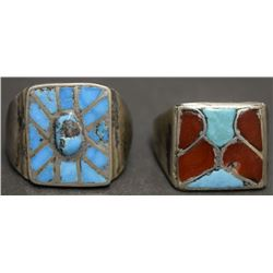 TWO NAVAJO RINGS