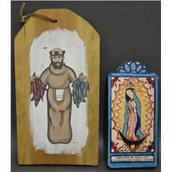 TWO MEXICAN RETABLOS