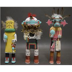 THREE HOPI KACHINAS (DAVID)