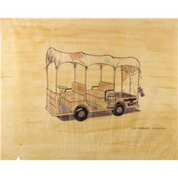 Disneyland Service Vehicle Original Concept Drawing.