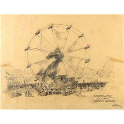 """Old Mill Ferris Wheel"" Original Concept Drawing."