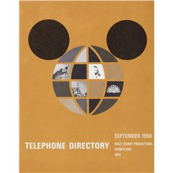 WDP, Disneyland, & WED Telephone Directory.